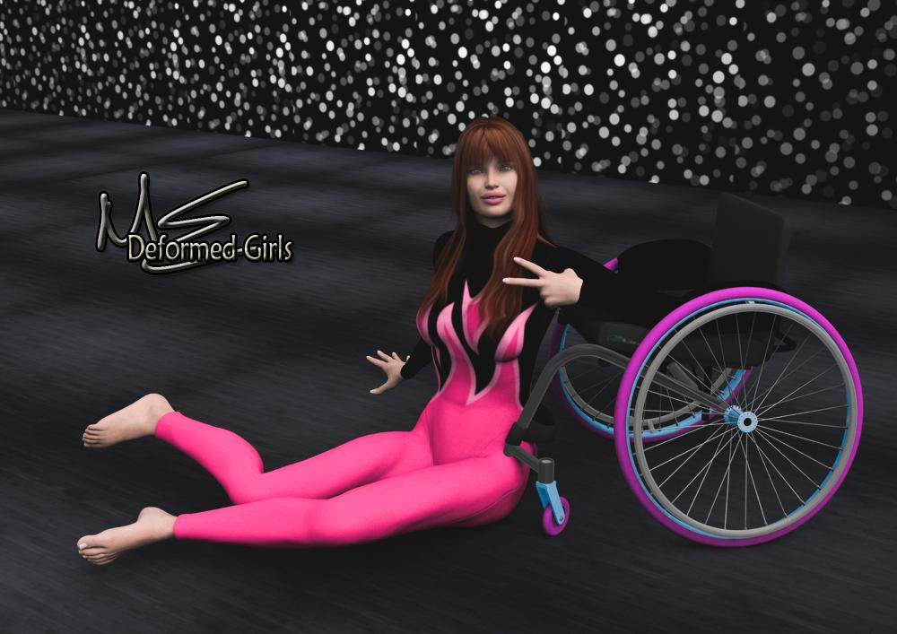image Paraplegic fall and transfer