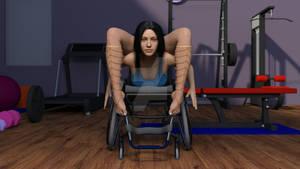 Contortion In Wheelchair