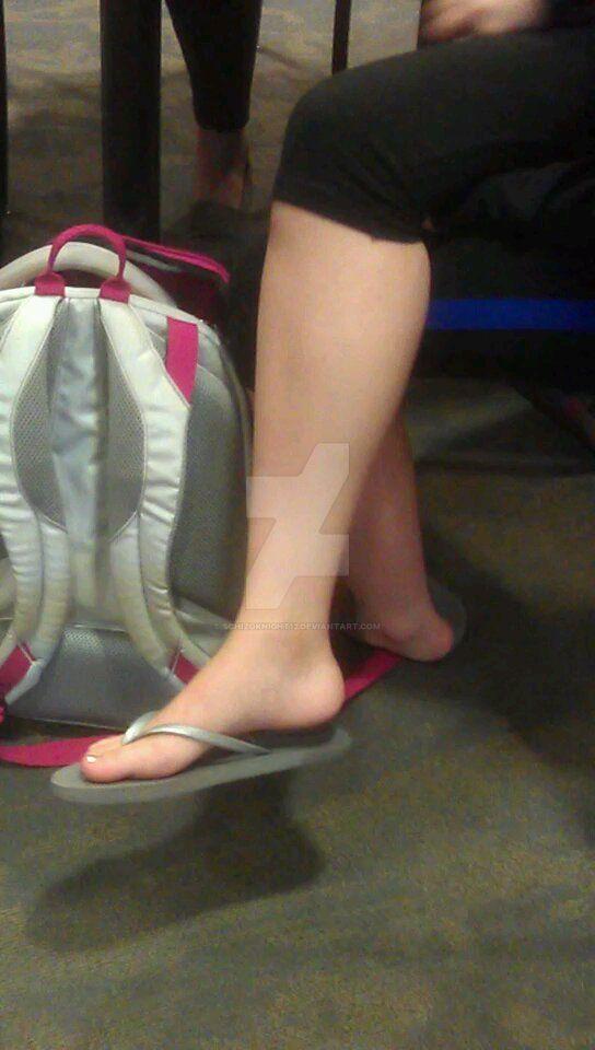 Jessica's soft calves and dangling feet by schizoknight12