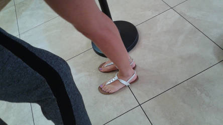 Carrie's feet at Chick-fil-A