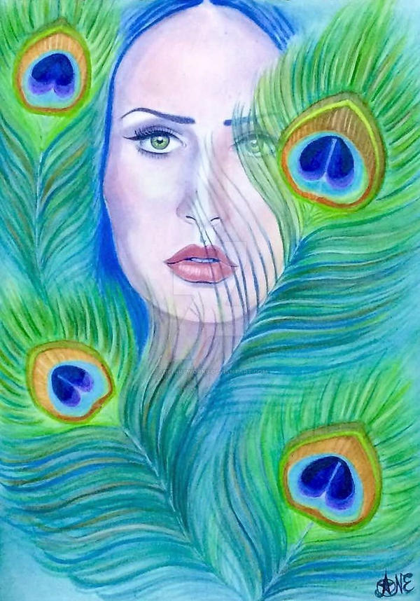 Peacock Girl by Ane-Artworks