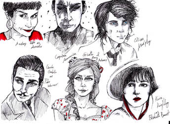 Celebrities sketches by nissniss