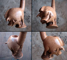 Angry boar pipe 2 - 4 views by Arcangelo-Ambrosi