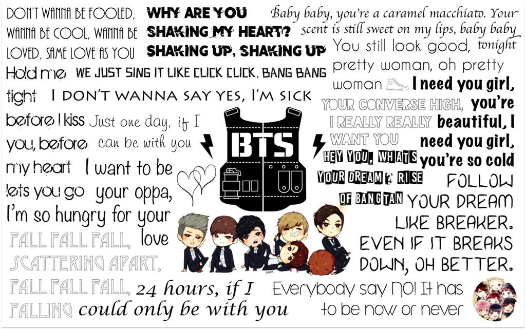 Bangtan Boys BTS Lyrics Wallpaper By MysGirl88