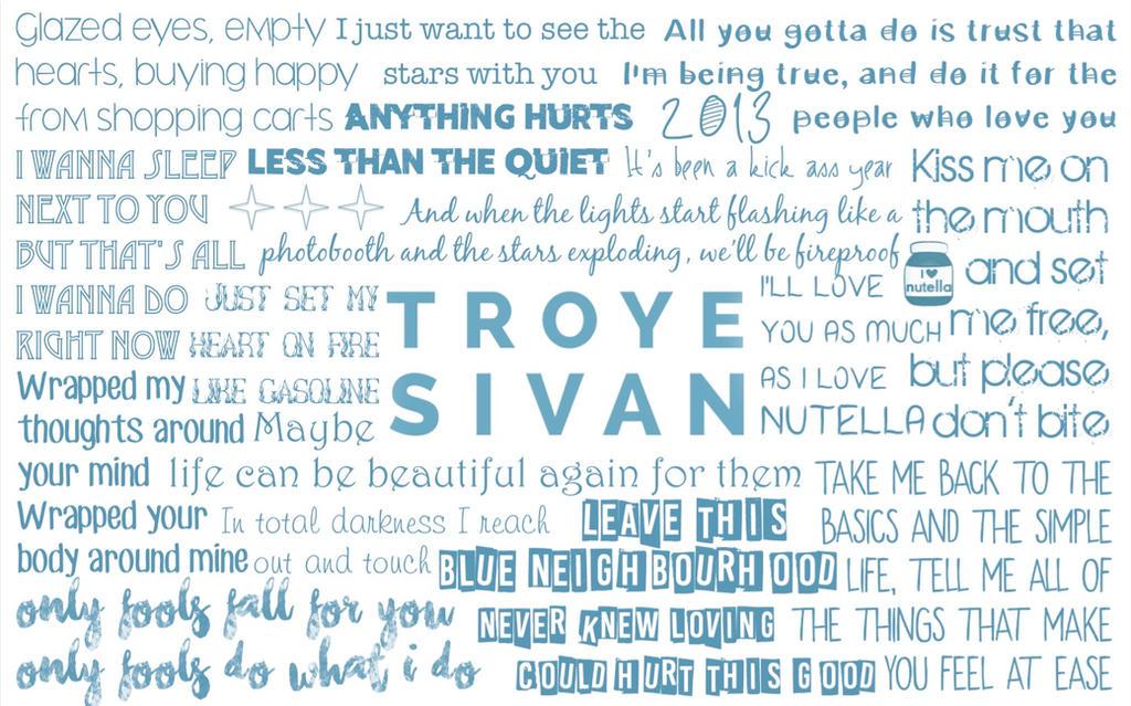 Troye Sivan Lyric Wallpaper By MysGirl88
