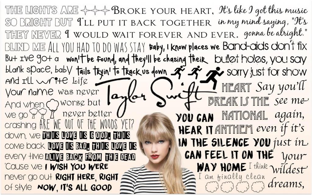 Taylor Swift Lyric Wallpaper by MysGirl88 on DeviantArt