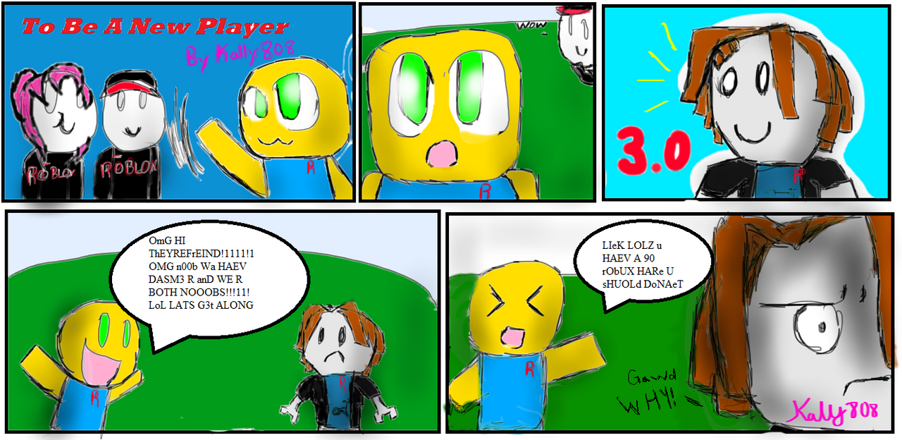 to be a new player comic two the new newb by kally808 on deviantart