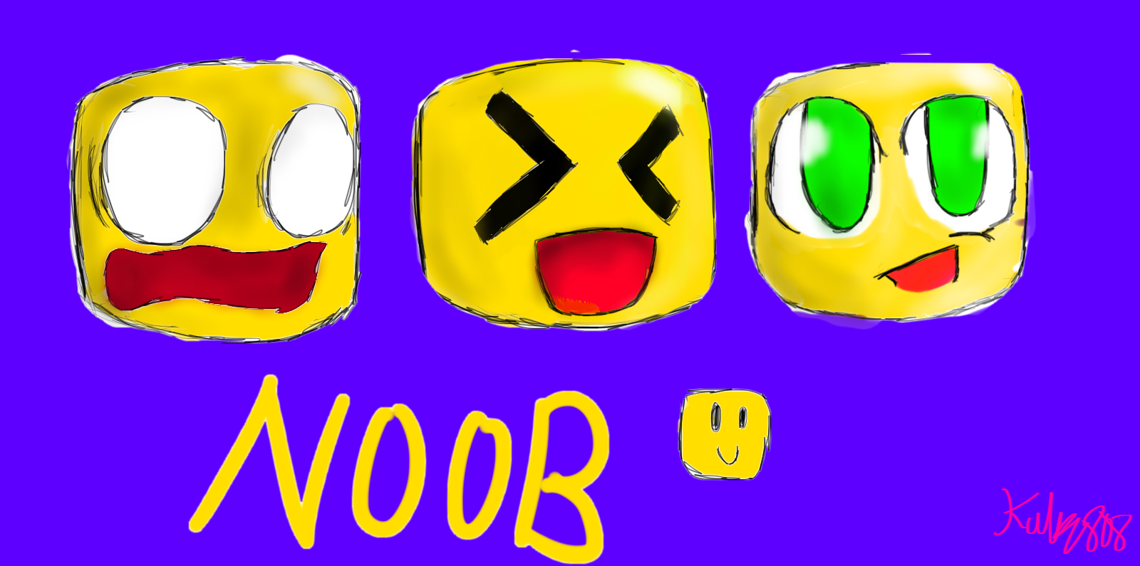 Sketchs Of Roblox Noob By Kally808 On Deviantart