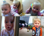 The Twins being playful and Gabriel a big boy..