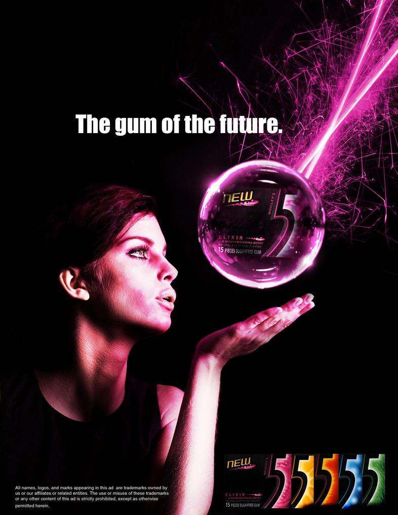 5 Gum Advertisement Wrigley 39 s 5 Gum by