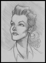 Katharine Hepburn by DaveJorel