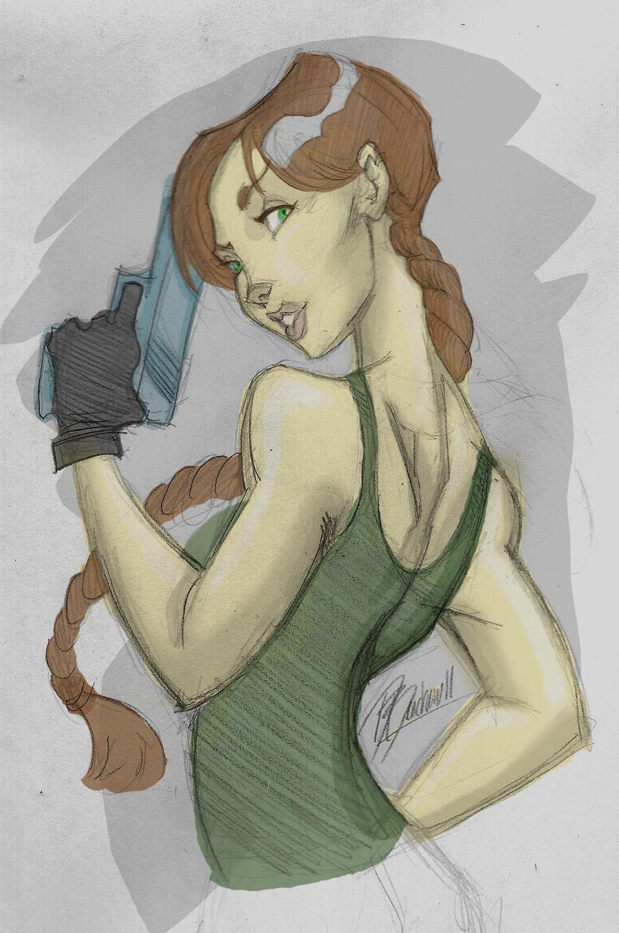 Lara Croft by DaveJorel