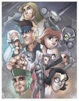 Metal Gear Solid Sketch Poster by DaveJorel