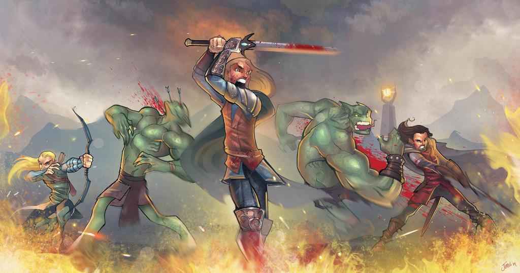 Battle in Mordor by DaveJorel