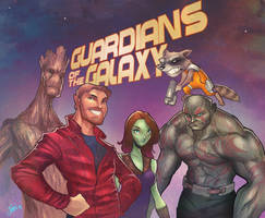 Guardians of the Galaxy by DaveJorel