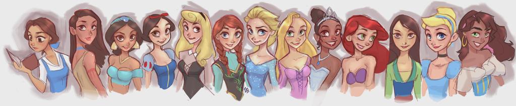 All The Princesses by DaveJorel