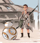 Rey and BB8 - The Force Awakens