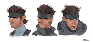 Solid Snake Expressions