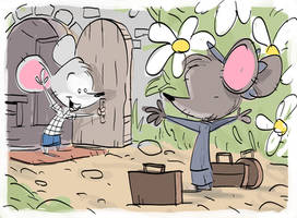 Town Mouse City Mouse by DaveJorel
