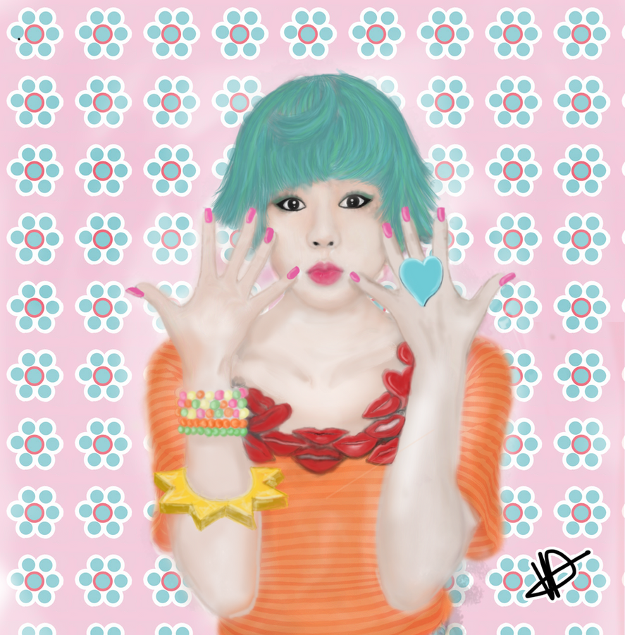 SNSD Sunny digital artwork by LolaLazz