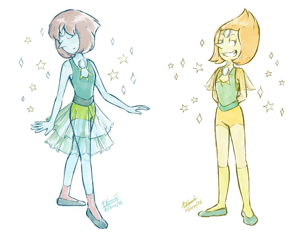 Crystal Gem Pearl fused with diamonds pearls TUMBLR --------->koizumi-marichan.tumblr.com/ Steven Universe (c) Rebecca Sugar