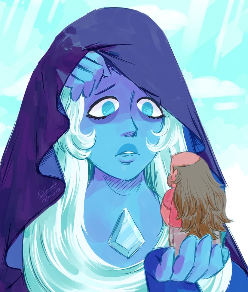 Amé una pose de uno de los scketchs que hizo Rebecca de Blue Diamond, me basé un poco en ese para este dibujo Me encanta cómo salió Steven Universe (c) Rebecca Sugar