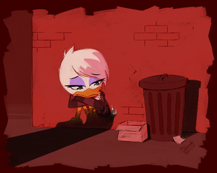 In the shadows - Ducktales 2017 by Koizumi-Marichan