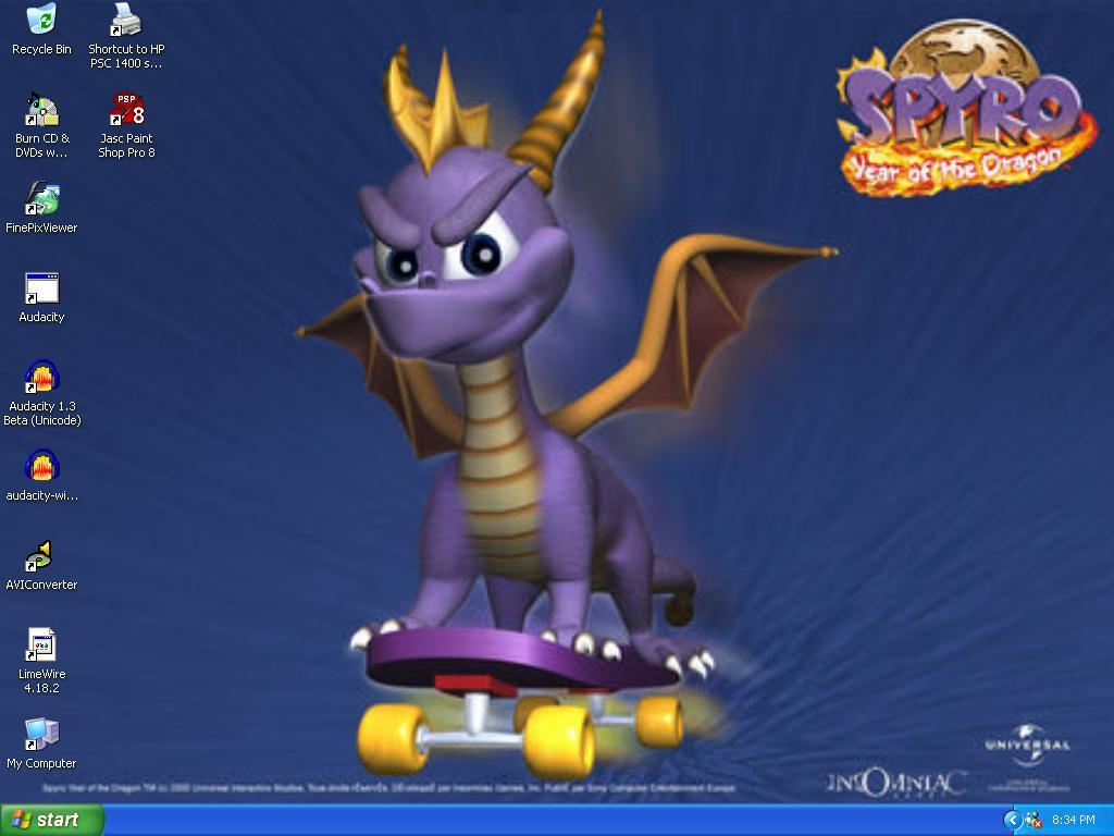Spyro on Skateboard Wallpaper by xFlowerstarx