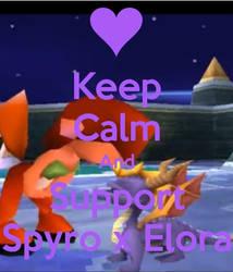 Keep Calm And Support Spyro x Elora by xFlowerstarx