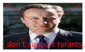 Anti-David Cameron Stamp by xFlowerstarx
