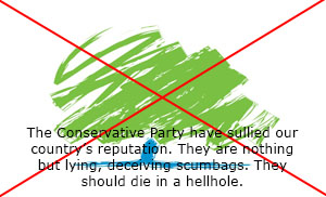 Anti-The Conservative Party Stamp by xFlowerstarx