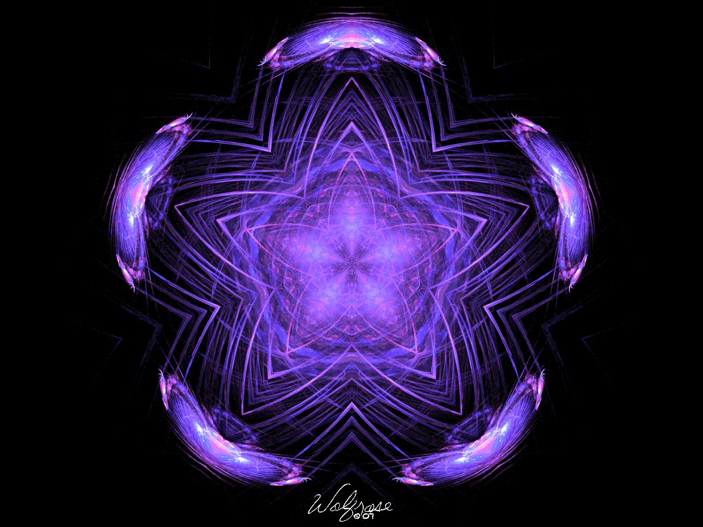 Purple Pentacle by KayoteWolfrose
