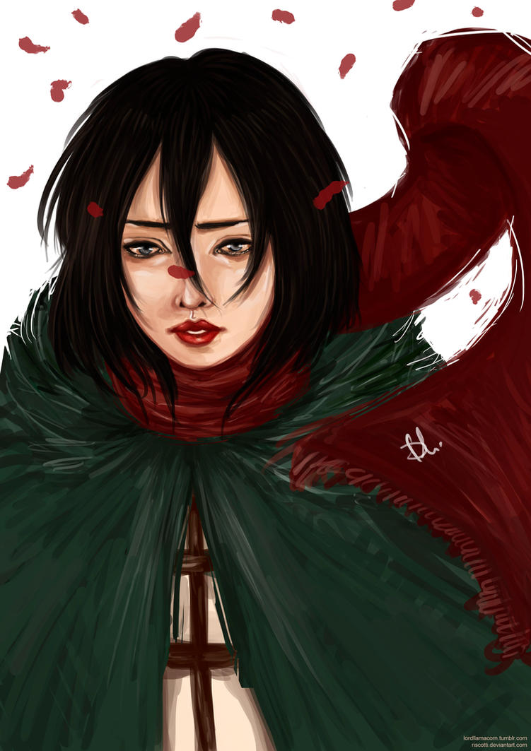 Mikasa Ackerman by riscotti