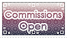 Stamp: Commissions open by D-Artemisatto