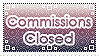 Stamp: Commissions closed by D-Artemisatto