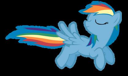 Flying Rainbow Dash by ShayminOnEarth