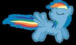 Flying Rainbow Dash