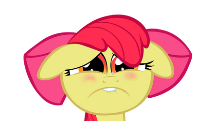 Miserable Applebloom by ShayminOnEarth