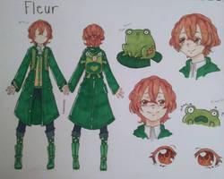 Fleur OC ref sheet