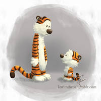 Calvin and Hobbes by KarimT