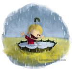 Calvin in the Rain