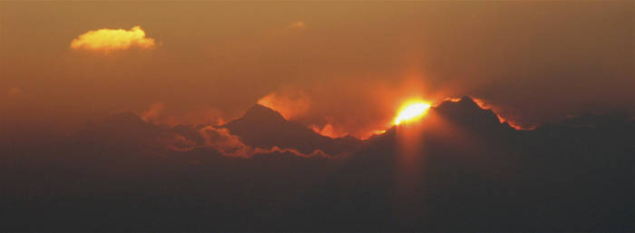 Jungfrau's sunrise