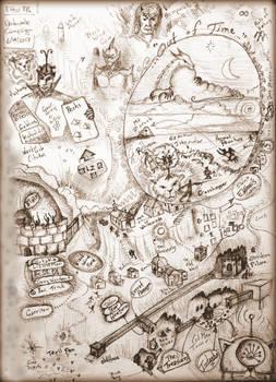 Elthos RPG Whitewode Campaign - Plot Map 20170616