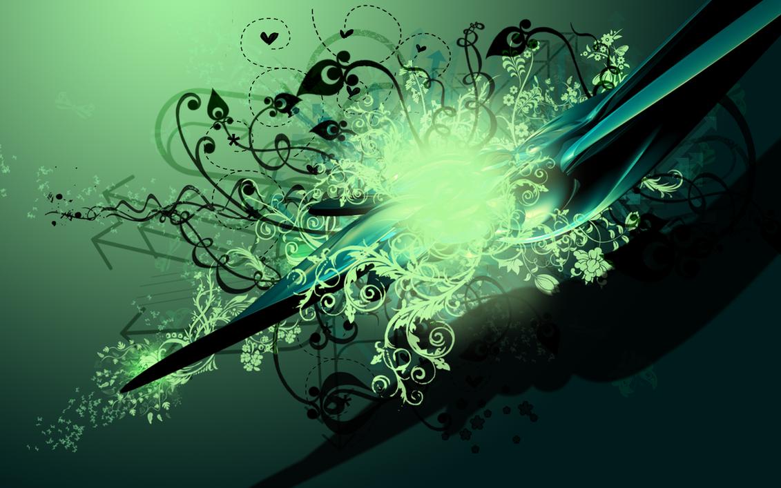 green vector wallpaper by Bartas1503