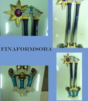 hero's crest keyblade complete by finaformsora