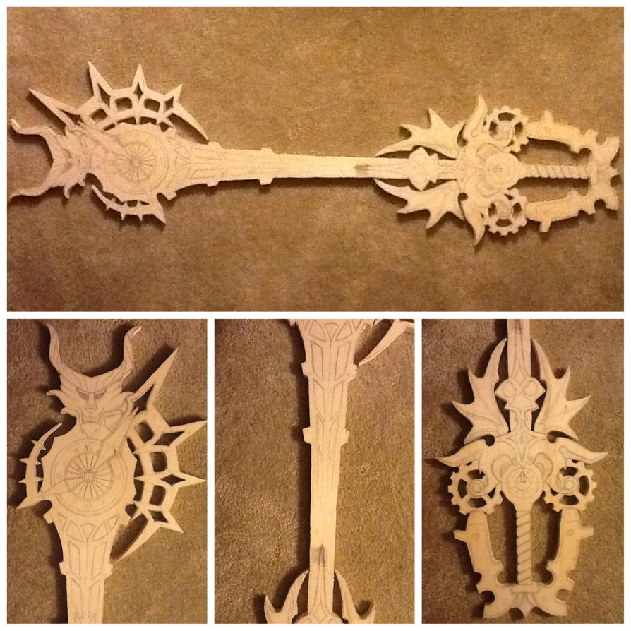 young xehanort's keyblade cut out by finaformsora