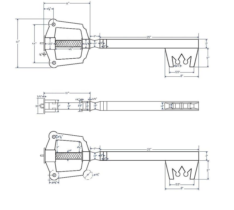 Kingdom Key Blueprints Finaformsora Deviantart