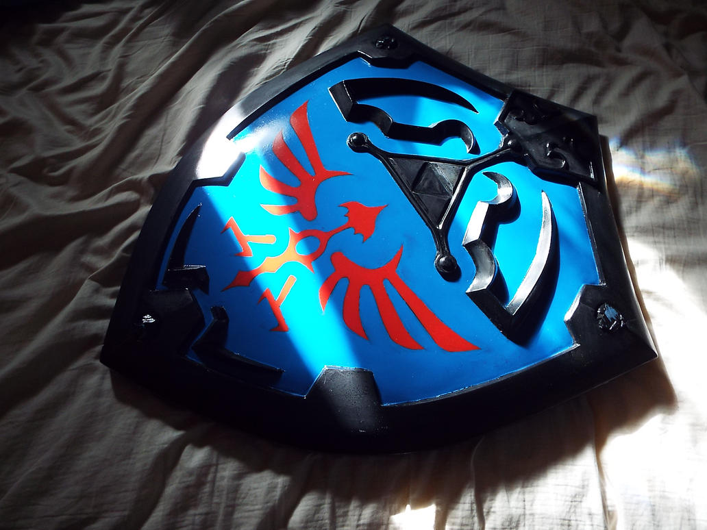 Hylian Shield Paint wip by finaformsora