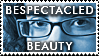 Bespectacled Beauty Stamp by nocturno