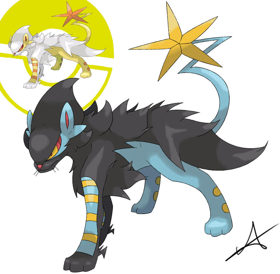 Mega Luxray (Sugimori Style) by MexieChan on DeviantArt